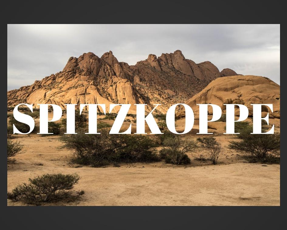 Spitzkoppe